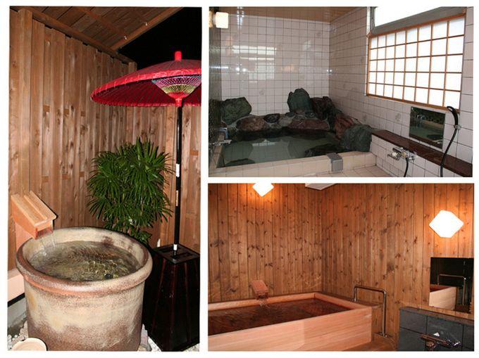 陶器風呂、岩風呂、木風呂と ...