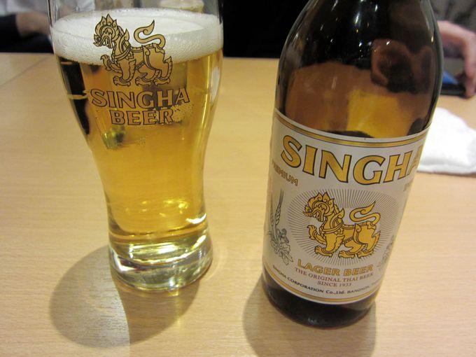 王室公認プレミアムビール「シンハー」がタイで人気。