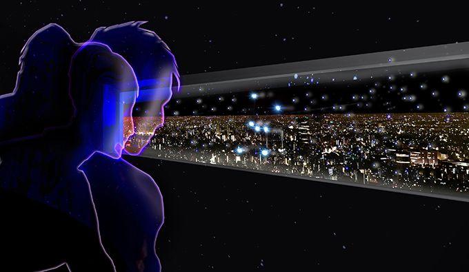 星座の向こう側に東京の美しい夜景を望むことができる窓が登場!