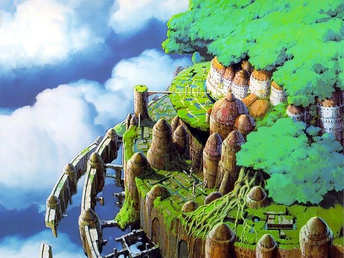 上空ラピュタ城画像