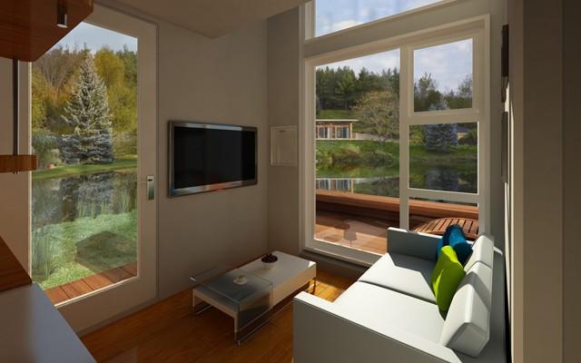 窓が広いため、同じ家でも景色によって雰囲気が変わります。