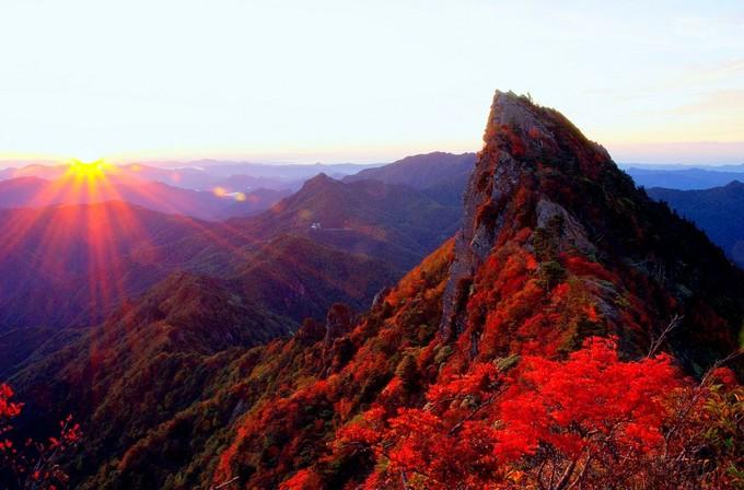 石鎚山と面河渓(愛媛県)
