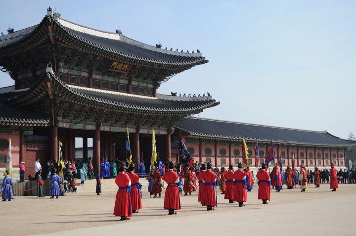 景福宮。韓国ドラマにもよく登場します。